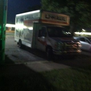 Process for 'Creature Comfort' Returning the Uhaul in the dead of night.