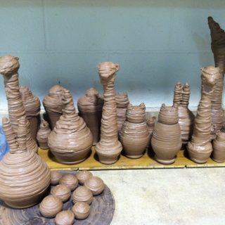 "Process for 'Creature Comfort'  Making the ceramic 'animal prize mummies' for ""Carnival Prizes""."