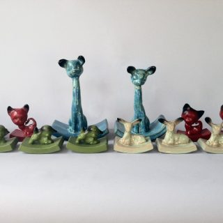 Animal Prize Rockers (deer, kittens, lambs, fawns), 2012